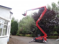 Cherry Picker for hire with experienced and trained operator from P.J. Services - North-West Ireland and Northern Ireland